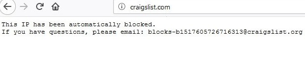 craigslist ip blocked