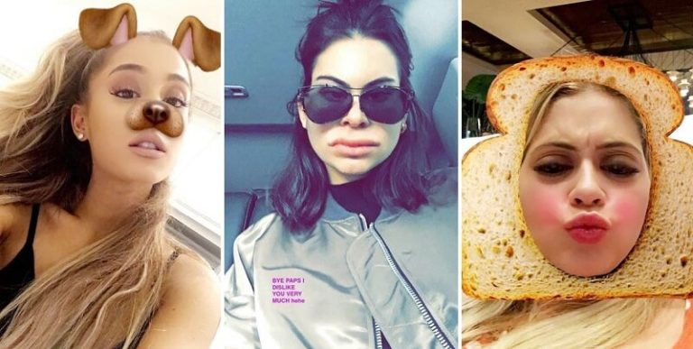 celeb Snapchat filters