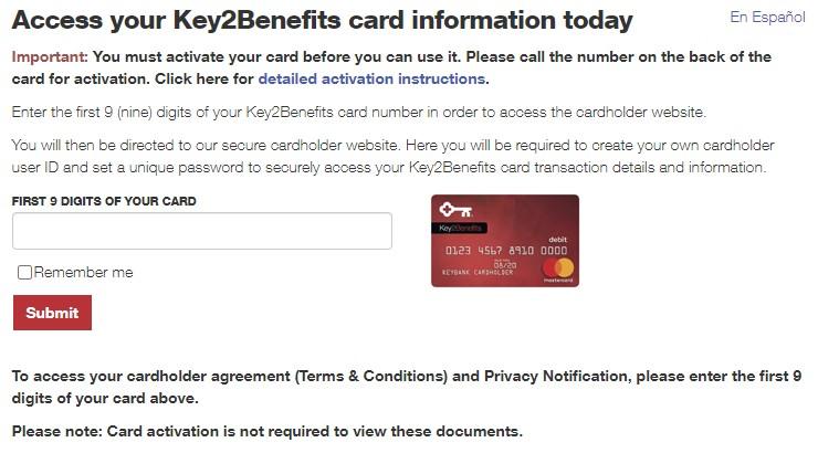 keybank unemployment card login