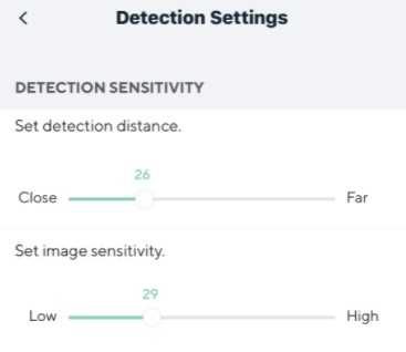 Wyze Cam detection settings