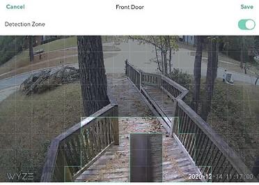 Wyze Cam detection zone