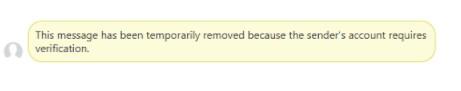 Facebook requires verification