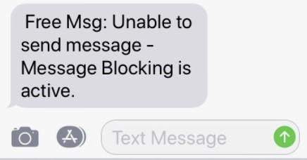 message blocking on iOS